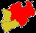 Verbreitungsgebiet des Handballverbandes Westfalen (HVW)